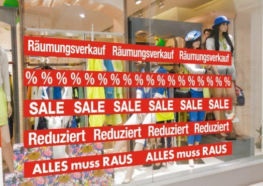 Räumungsverkauf und Sale