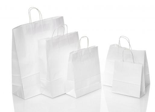 Papiertragetaschen Weiß