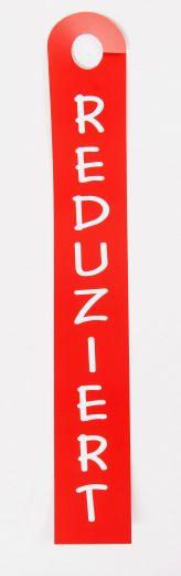 Hänger Ständer Reduziert 10x68cm rot/weiß