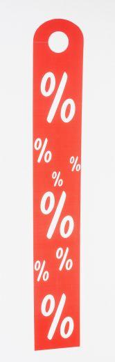 Hänger Ständer % 10x68cm rot/weiß