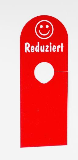 Hänger Ständer Reduziert Smily 8,5x23cm rot/weiß