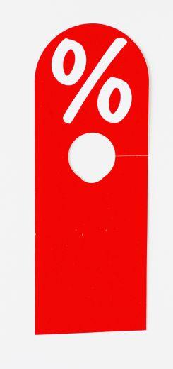 Hänger Ständer % 8,5x23cm rot/weiß