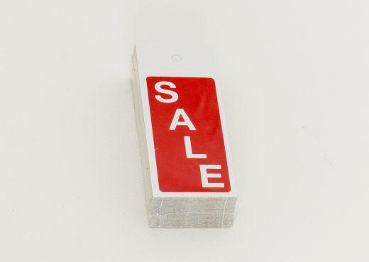 Kleiderbügelhänger SALE rot/weiß 4x10cm Karton