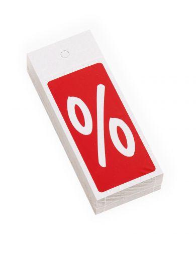 Kleiderbügelhänger % rot/weiß 4x10cm  Karton