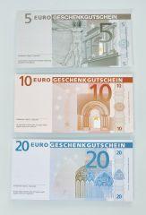 Geschenk Einlagen Euro