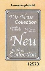 Plakat Karton DIN A4 Die neue Collektion Silber/weiß