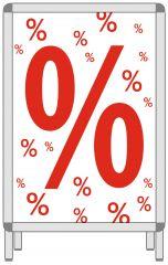 Rahmenplakat DIN A1 %%%%% weiß/rot Papier