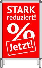 Rahmenplakat DIN A1 STARK Reduziert % Jetzt ! rot/weiß Papier